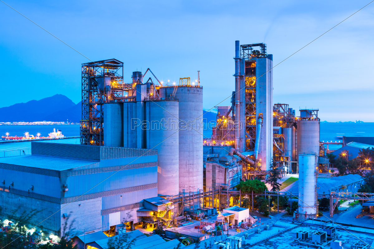 industrial, plant, during, sunset - 10250033