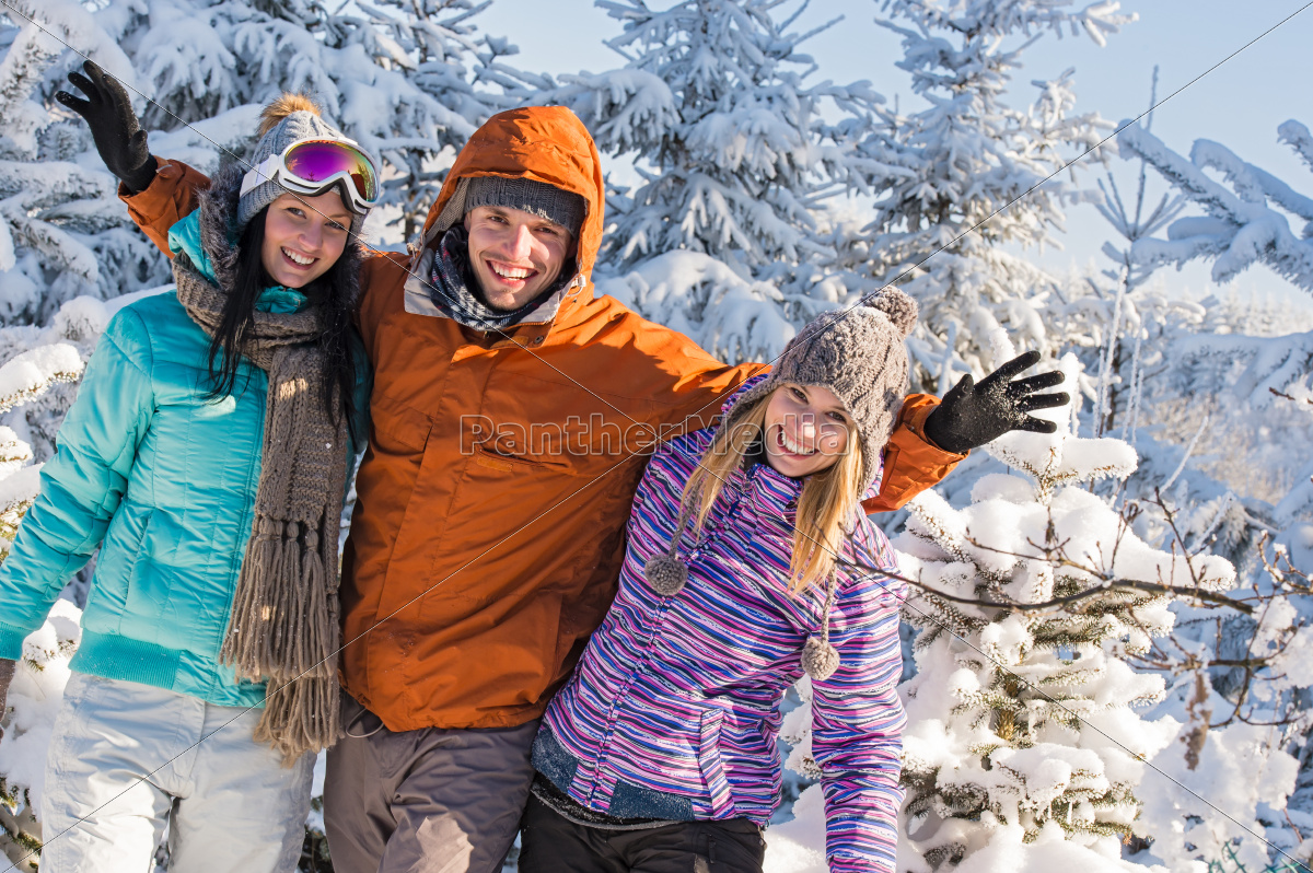 friends, enjoy, winter, holiday, break, snow - 10256583