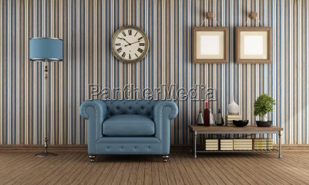 retro, living, room - 10257515