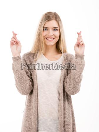 cross fingers