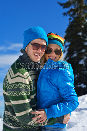 young, couple, on, winter, vacation - 10261111