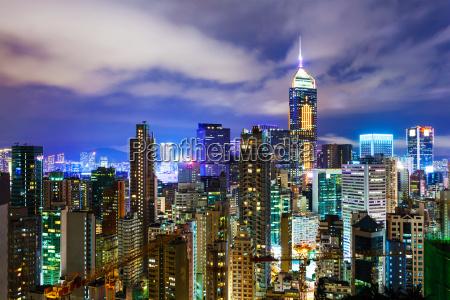 cityscape, in, hong, kong, at, night - 10262925