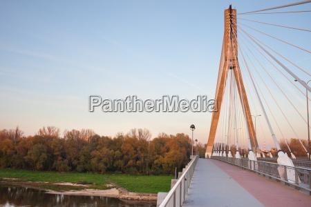swietokrzyski bridge in warsaw
