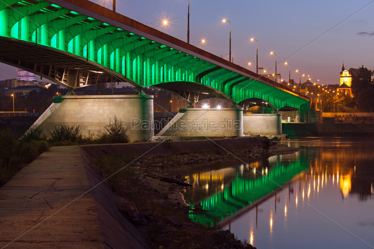 slasko-dabrowski, bridge, at, dusk, in, warsaw - 10263083