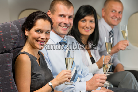 business, people, flying, airplane, drink, champagne - 10269321