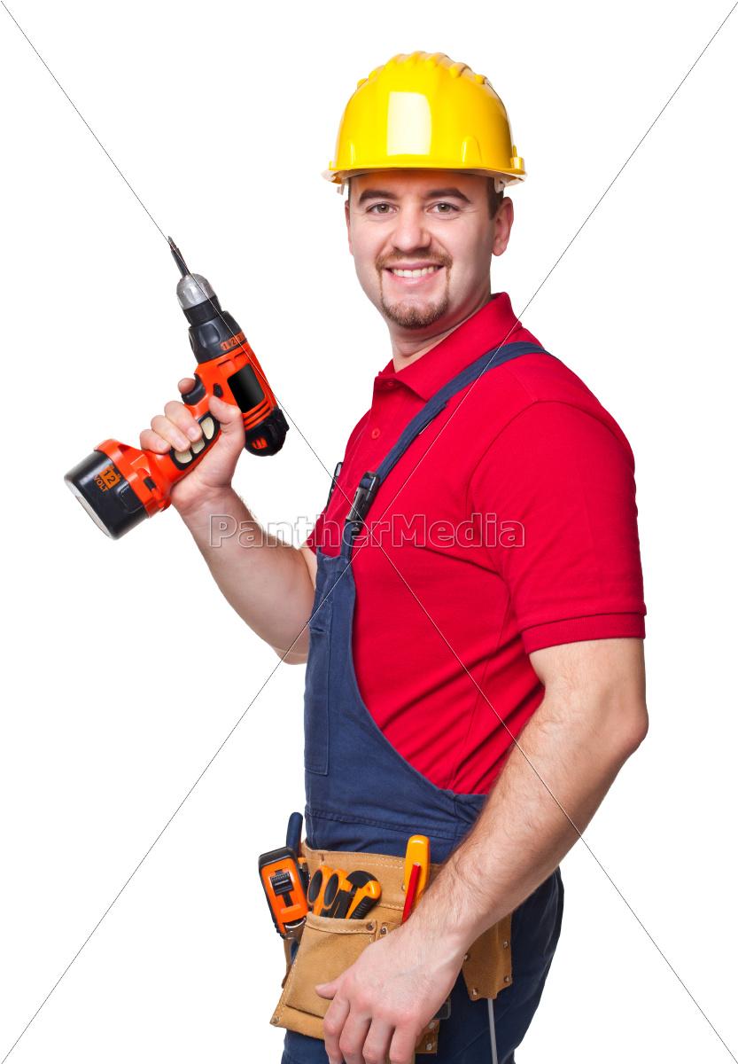 smiling, handyman - 10275707