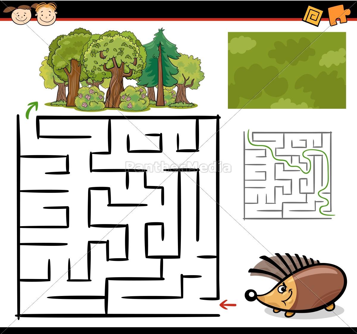 cartoon, maze, or, labyrinth, game - 10278385