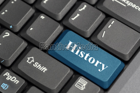 history key on computer keyboard