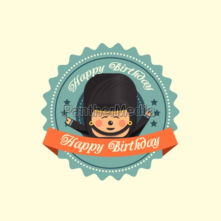 soldier birthday label