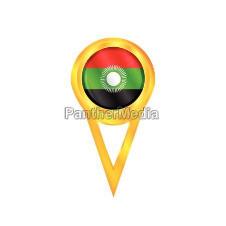 malawi pin flag