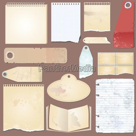 vector, set:, vintage, label, , paper, , tag - 10287897