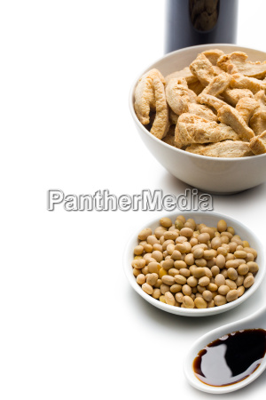 soybeans soy meat and soy sauce