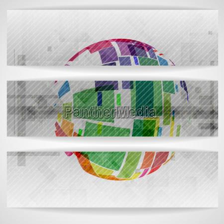 colorful globe design