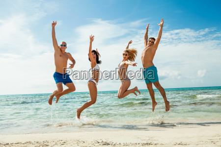 group laughing young people on the