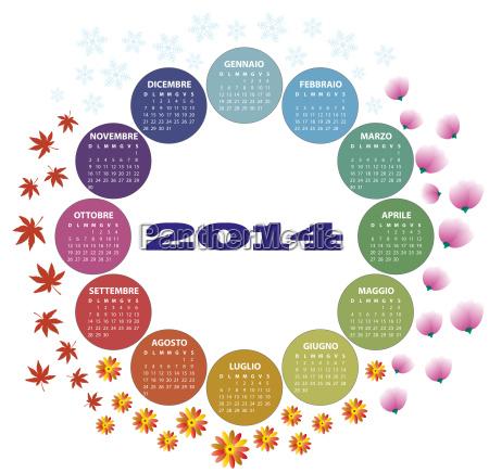 2014 season calendar