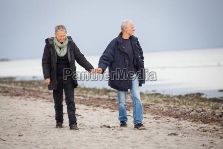 senior, happy, couple, making, a, beach - 10291631