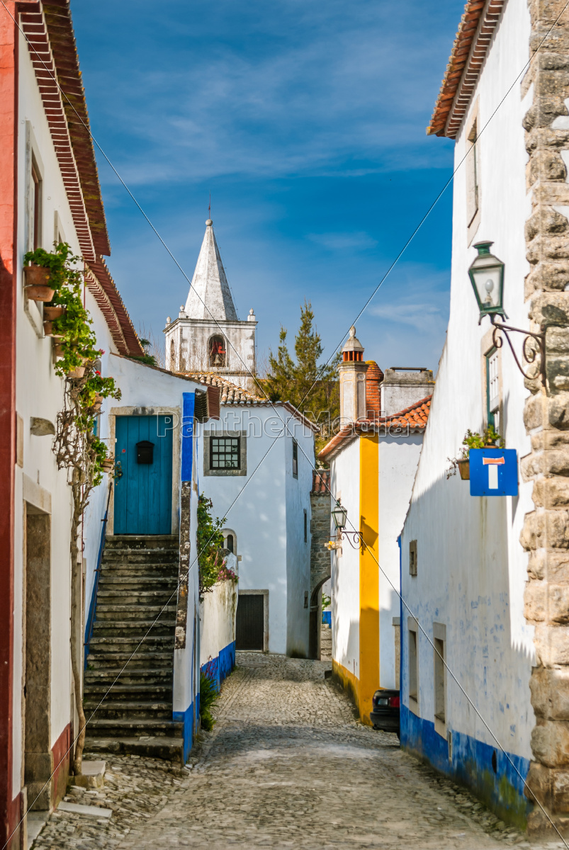 street, view, of, obidos, -, portugal - 10291887