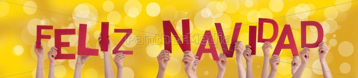 feliz, navidad, on, golden, background - 10295447