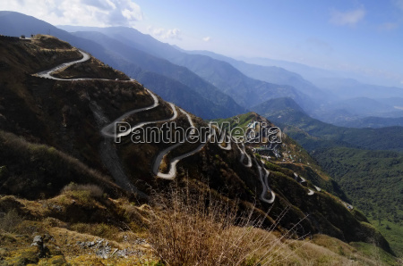 curvy roads on old silk route