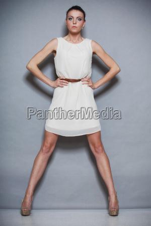 fashion photo of young woman girl