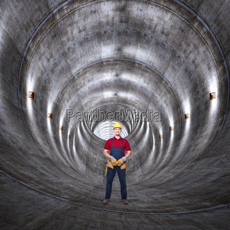 concrete, tunnel, and, man - 10299387