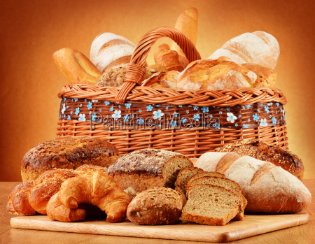 wicker, basket, with, variety, of, baking - 10299705