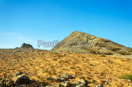 desert and rocky hill