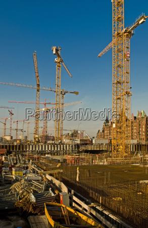 construction site in hamburgs hafencity