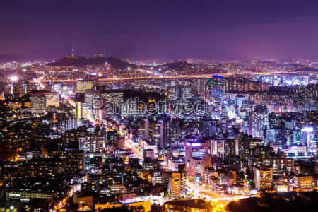cityscape, of, seoul, at, night - 10308527