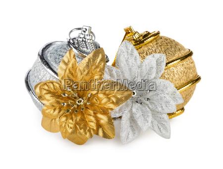 gold silver christmas balls