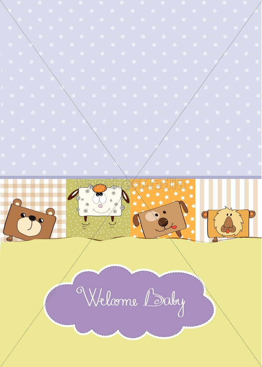 baby, shower, card, with, funny, cube - 10309047