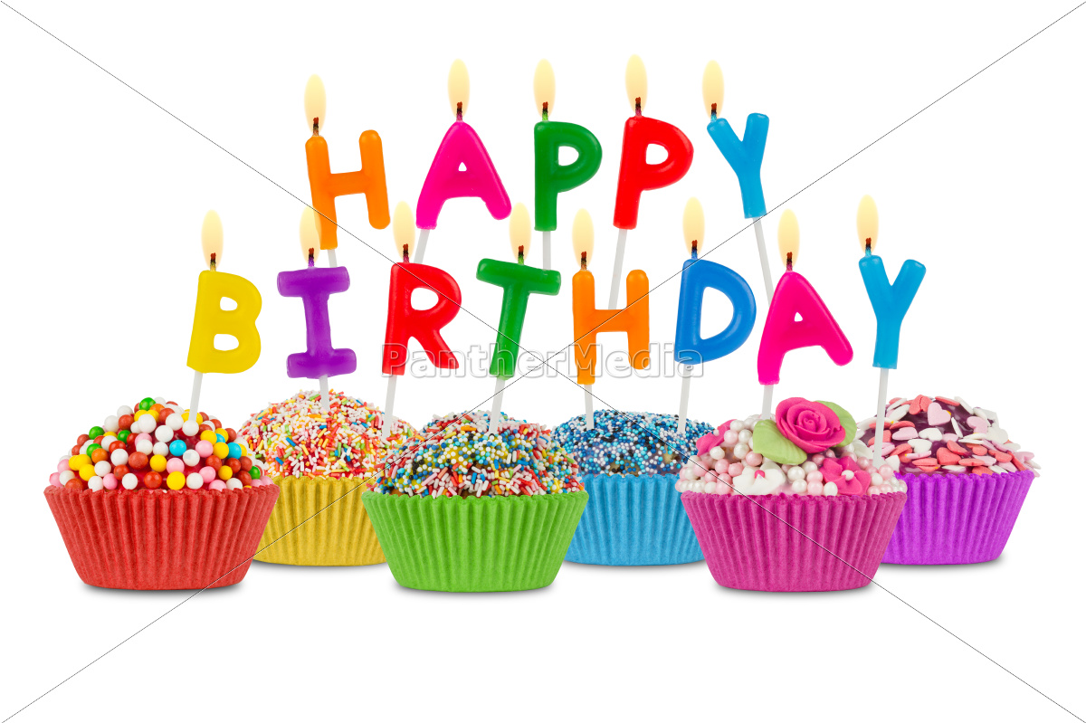 happy, birthday, cupcakes - 10309173