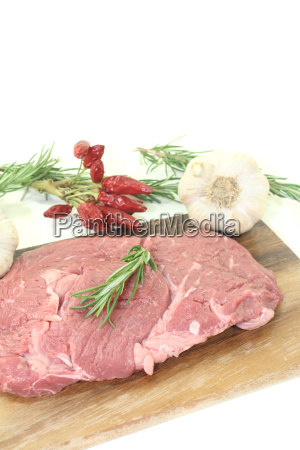 entrecote with garlic chili and rosemary