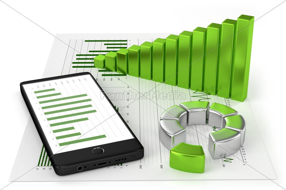charts, and, smartphone - 10310449