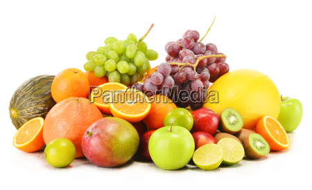 composition with variety of fruits isolated