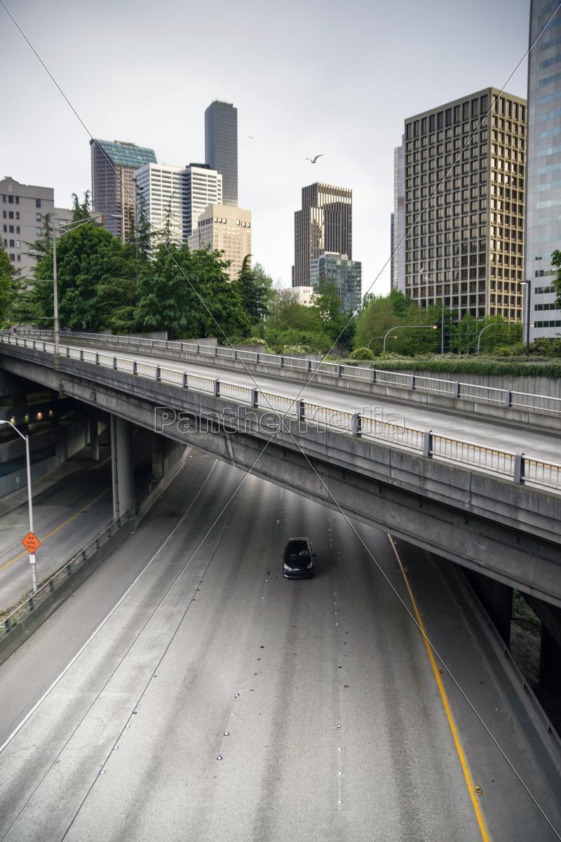 four, lane, highway, interstate, 5, carries - 10327453