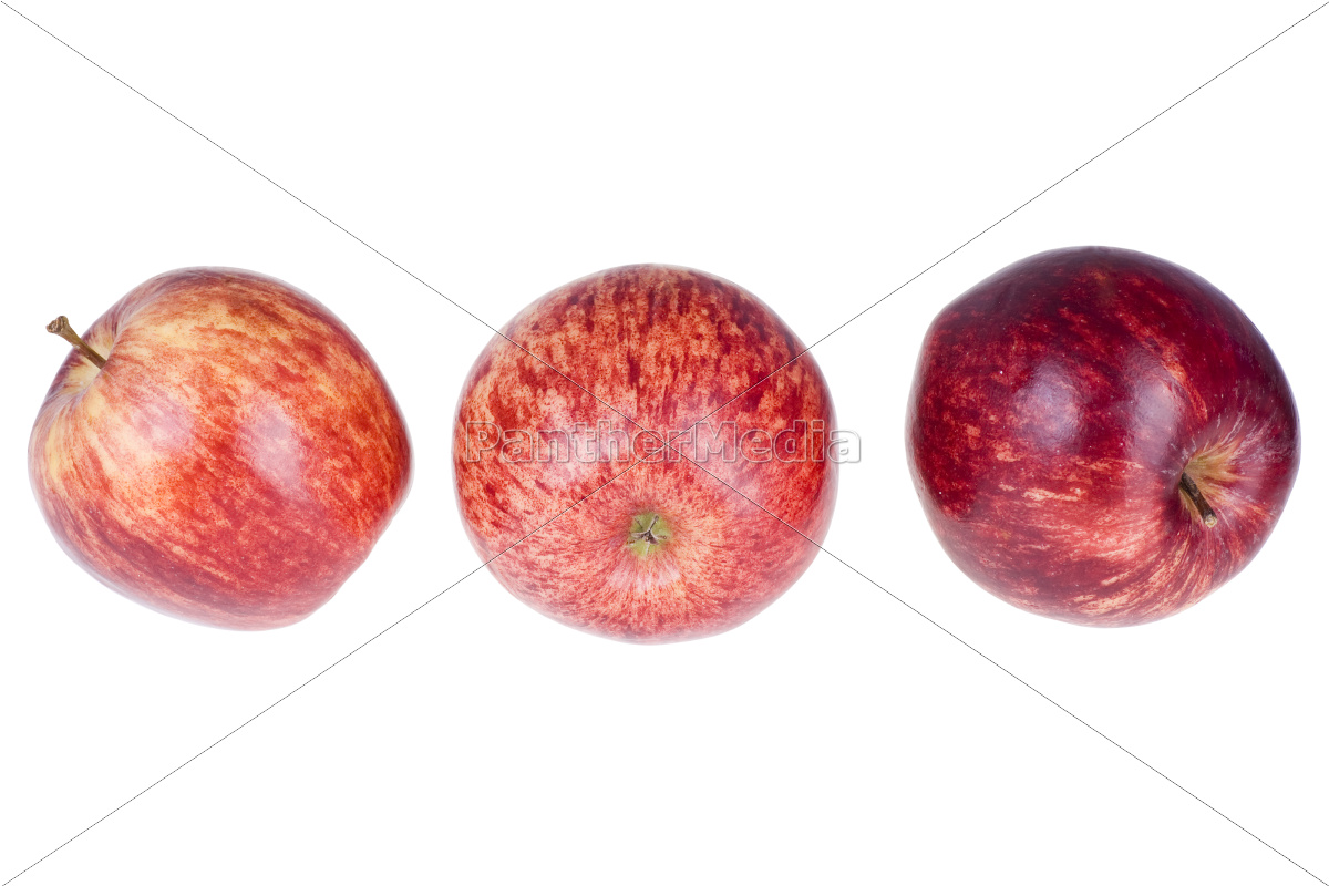 red, apples, on, a, white, background - 10333621
