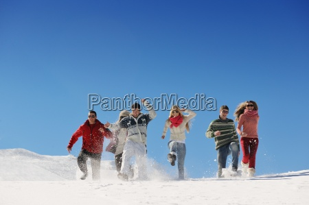 friends, have, fun, at, winter, on - 10334581