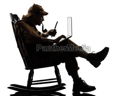 sherlock, holmes, silhouette, computing - 10335027