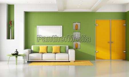 bright, modern, living, room - 10353135