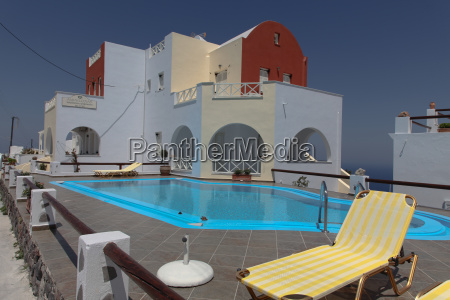 villa on santorini island
