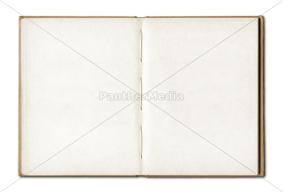 vintage, blank, open, notebook - 10386307