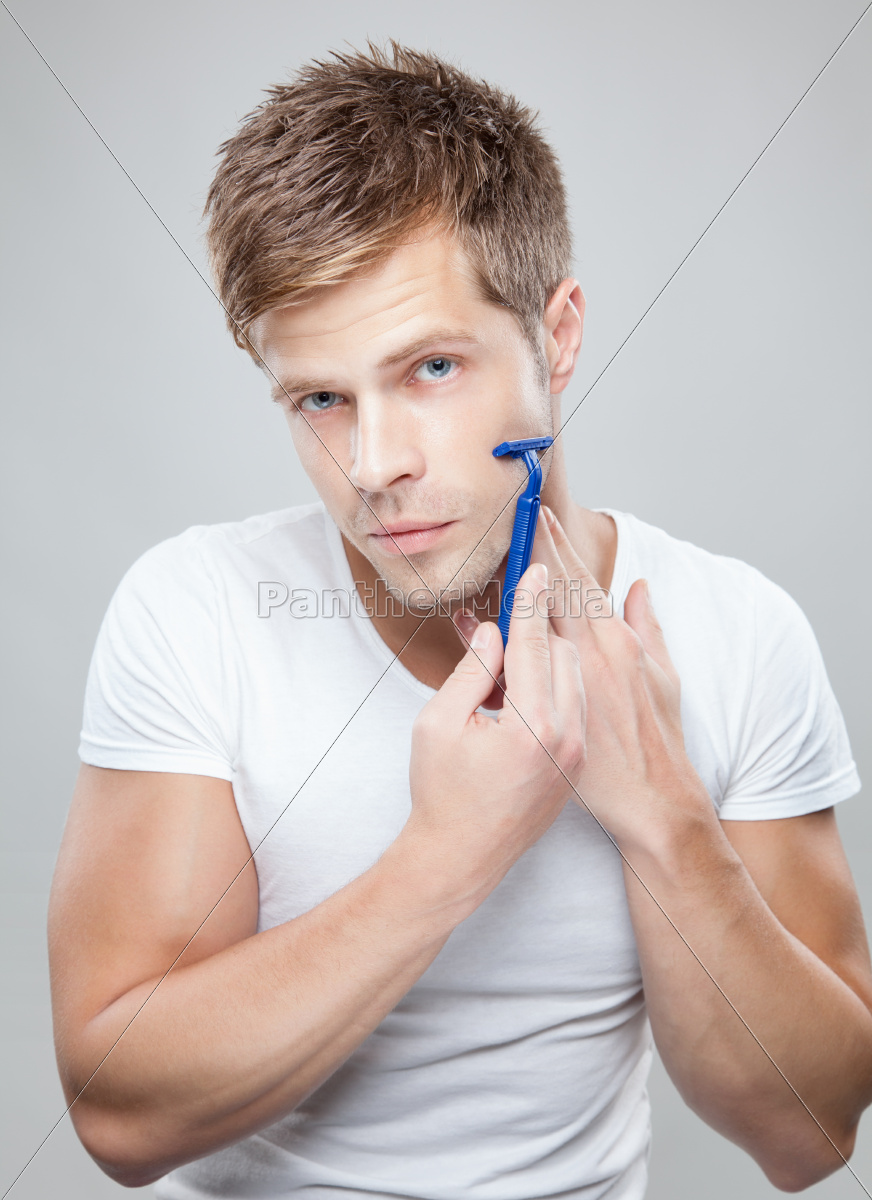 handsome, man, shaving - 10388579