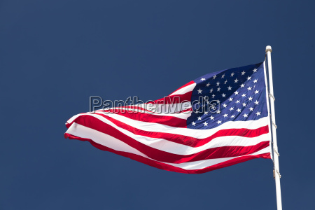 usa, flag, in, front, of, cloudless - 10391581