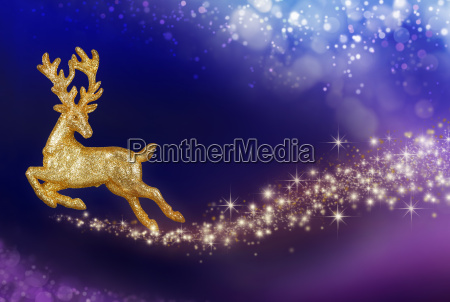 christmas magic with golden reindeer