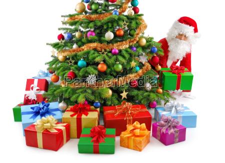 santa claus is preparing gifts