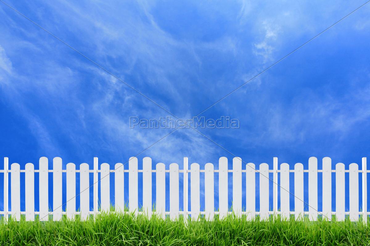 white, fence - 10396271