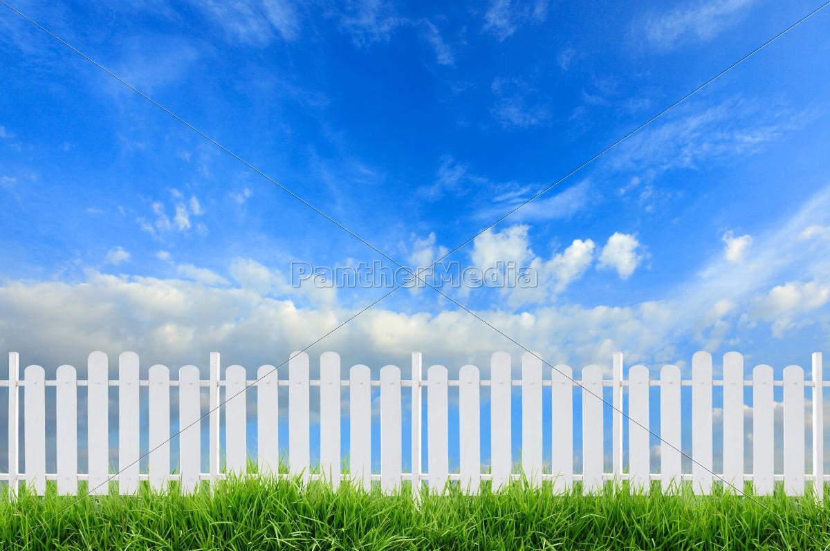 white, fence - 10396273