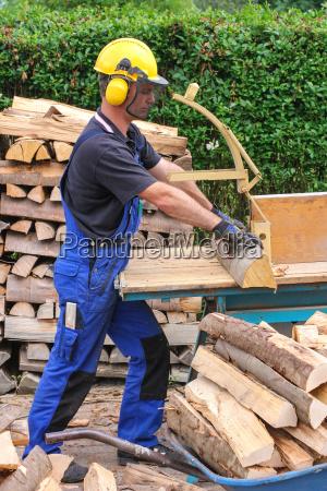 firewood sawing