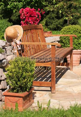 garden, bench, garden, bench - 10405811